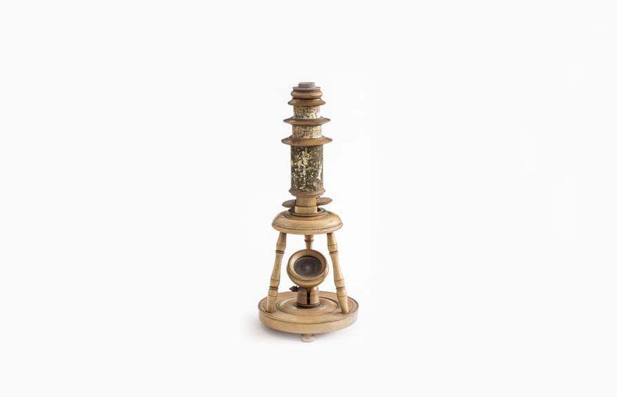 "Nürnberger ""Spielzeugmikroskop, 18.Jahrhundert"